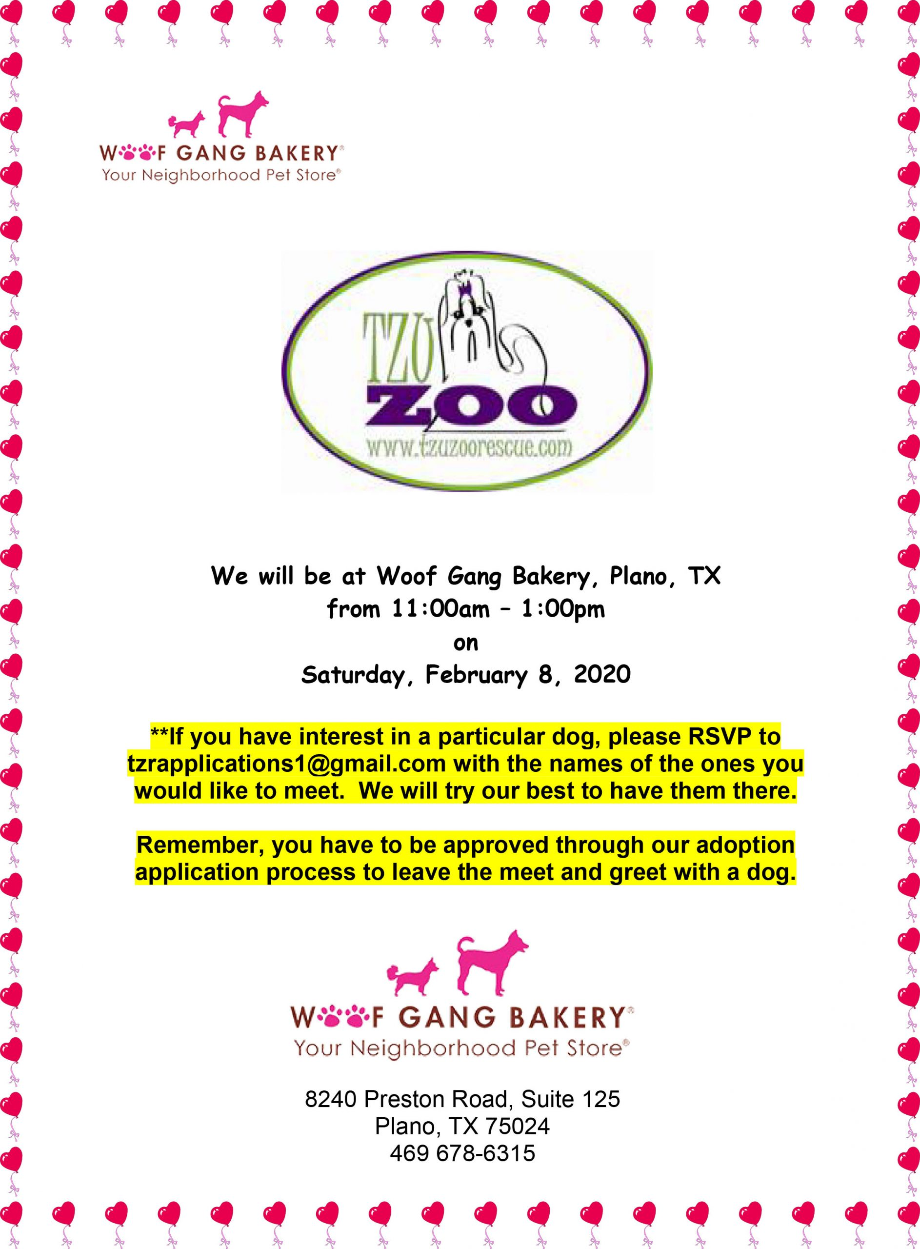 Meet & Greet, Woof Gang Bakery-Plano, TX